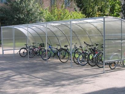 fedett biciklitároló